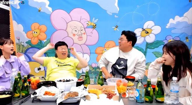 유관순 열사를 모독한 발언으로 논란이 된 BJ봉준의 개인방송 화면 [아프리카TV 캡처]