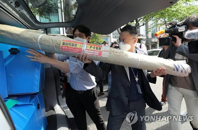 경찰, '대북전단 살포' 박상학 사무실 등 압수수색