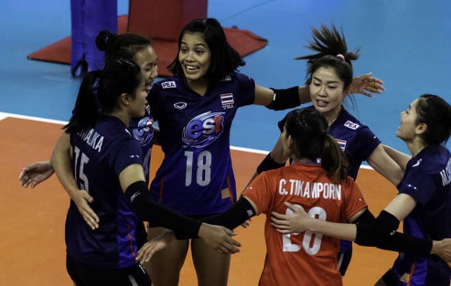 2019 발리볼네이션스리그에 출전한 태국 여자배구대표팀.  FIVB 제공