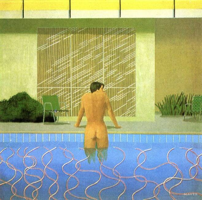 출처: 닉의 수영장에서 피터 나가다(1966) | 미술대사전