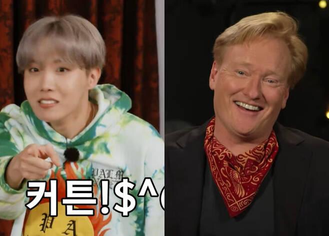 출처: V LIVE 'BTS', 유튜브 'Team Coco'