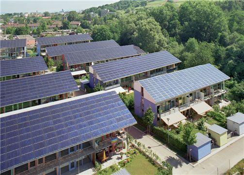독일 프라이부르크 지역의 태양광 주택