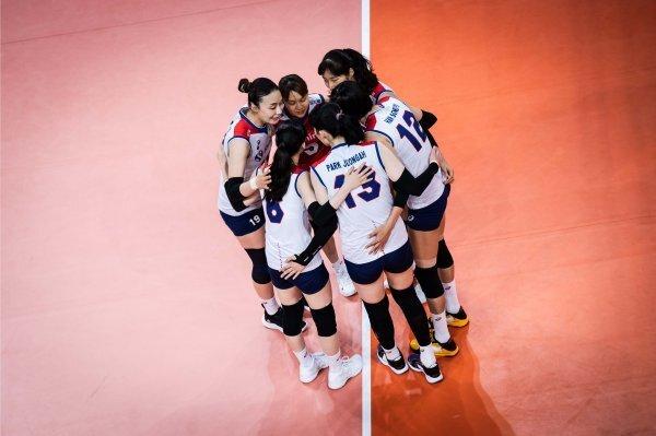 VNL 한국-미국의 경기 장면. 사진제공   FIVB
