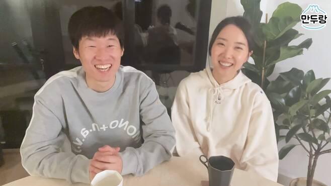 박지성-김민지 부부. 김민지 유튜브 캡처