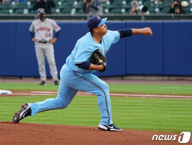류현진이 시카고 화이트삭스를 상대로 시즌 6승에 도전한다. © AFP=뉴스1