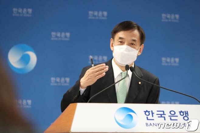 이주열 한국은행 총재가 15일 오전 서울 중구 한국은행에서 열린 통화정책방향 기자간담회에서 발언하고 있다. (한국은행 제공)