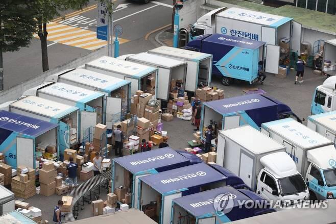 택배노조 무기한 총파업 [연합뉴스 자료사진]