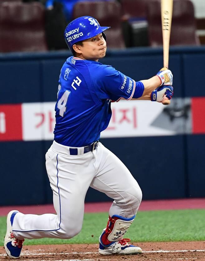 김헌곤은 올 시즌 삼성 하위타선에서 쏠쏠한 역할을 해주고 있다. / 최문영 스포츠조선 기자