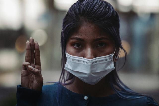 ▲ 미얀마인 쉐신 민숴 씨. 미얀마 민주화 시위는 내전 양상으로 번지고 있다. 10일 기준 최소 901명의 사망자가 발생했다. ⓒ프레시안(최형락)