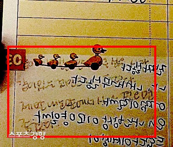 이모씨가 공개한 이나은의 일기장 일부 내용 뒷면에는 누군가를 저격하는 글들이 남아 있었다. 인스타그램 캡처