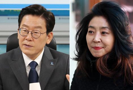 이재명 경기도지사와 배우 김부선씨. 서울신문 DB