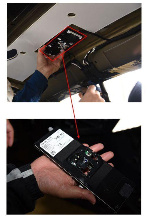 폴크스바겐의 신형 전기차 ID.3에 탑재된 인터넷 액세스컨트롤 유닛과 긴급 통보·통신 유닛도 전부 LG전자 제품이다. /닛케이크로스텍