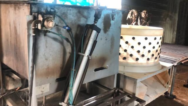 경기 김포시 도살장 내 개 도살 시 사용한 전기봉과 털 뽑는 기계 등이 발견됐다. 동물구조119 제공