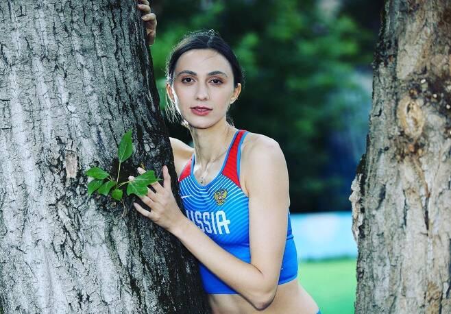 ROC(러시아 올림픽 위원회) 높이뛰기 대표 마리아 라시츠케네(28)/선수 인스타 캡쳐