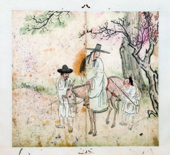 김홍도가 40대 이전 그린 풍속화들은 재기발랄한 인물표현, 다채로운 색채 사용 등으로 유명하다. 중앙포토