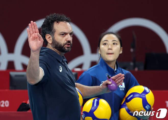 스테파노 라바리니 대한민국 여자배구대표팀 감독. 2021.7.21/뉴스1 © News1 이재명 기자
