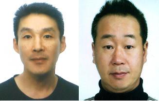 제주 중학생 살인사건 피의자인 주범 백광석(48·왼쪽)과 공범 김시남(46)./사진=뉴스1(제주경찰청 제공)