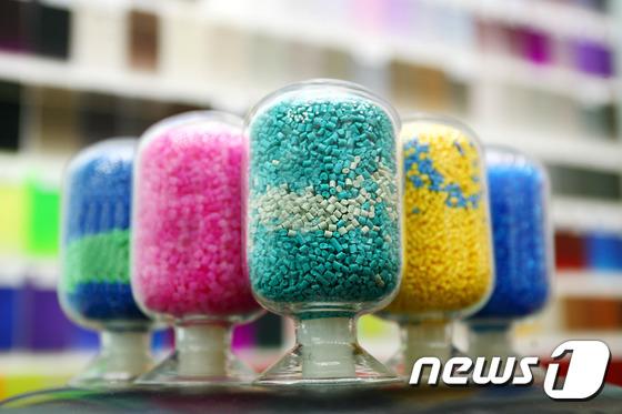 대표적 석유화학 제품인 고부가합성수지(ABS). © News1