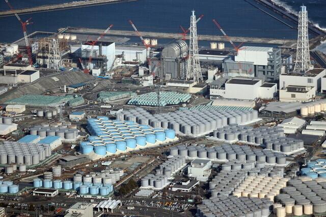 일본 후쿠시마 제1원전 탱크에 보관 중인 오염수. 후쿠시마/AP 연합뉴스