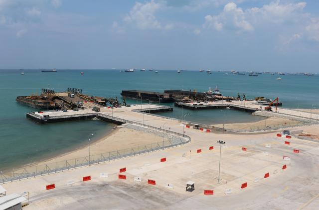WSH SHARP 어워드를 수상한 태콩섬 매립공사 2단계 전경 사진. /사진제공=현대건설