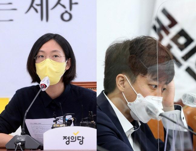 장혜영 정의당 의원, 이준석 국민의힘 대표 (사진=방인권 기자, 연합뉴스)