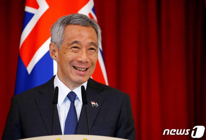 리센룽 싱가포르 총리가 지난해 싱가포르에서 열린 한 국제행사에서 연설을 하고 있다. © 로이터=뉴스1 © News1 박형기 기자