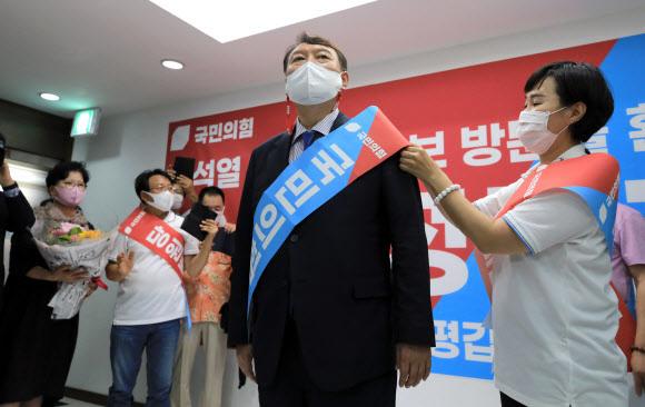 국민의힘 대권주자인 윤석열 전 검찰총장. 뉴시스