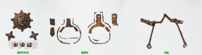 신덕고분에서 출토된 말갖춤새. 웅진기 후반을 대표하는 백제산인 것으로 파악되고 있다.|국립광주박물관 제공