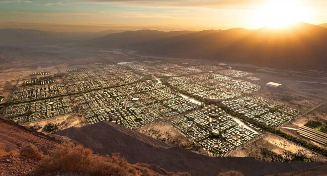 지속가능 도시 텔로사 조감도 모습 [출처 텔로사 트위터]