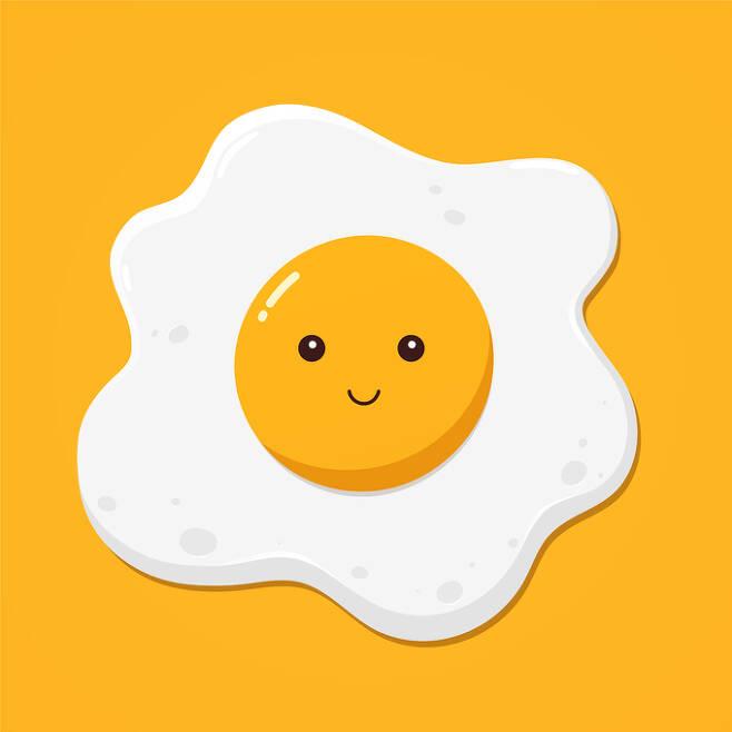 '써니-사이드 업'(Sunny-Side Up) 스타일의 달걀 프라이. 게티이미지뱅크