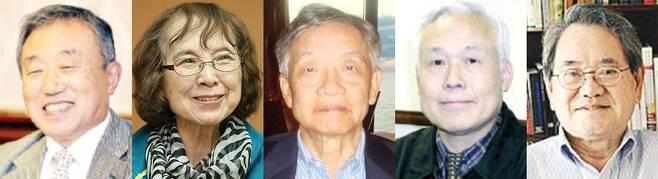 (왼쪽부터)최연홍, 이정화, 최학주, 백순, 강창욱