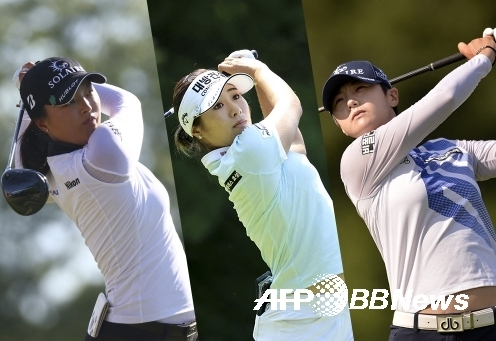 2021년 미국여자프로골프(LPGA) 투어 캄비아 포틀랜드 클래식에 출전하는 고진영, 이정은6, 박성현 프로. 사진제공=ⓒAFPBBNews = News1