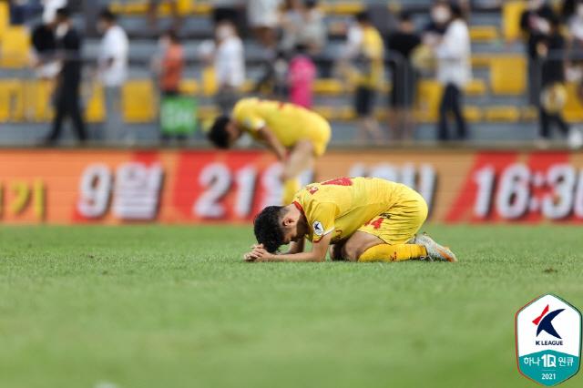 광주-제주전  사진제공=프로축구연맹