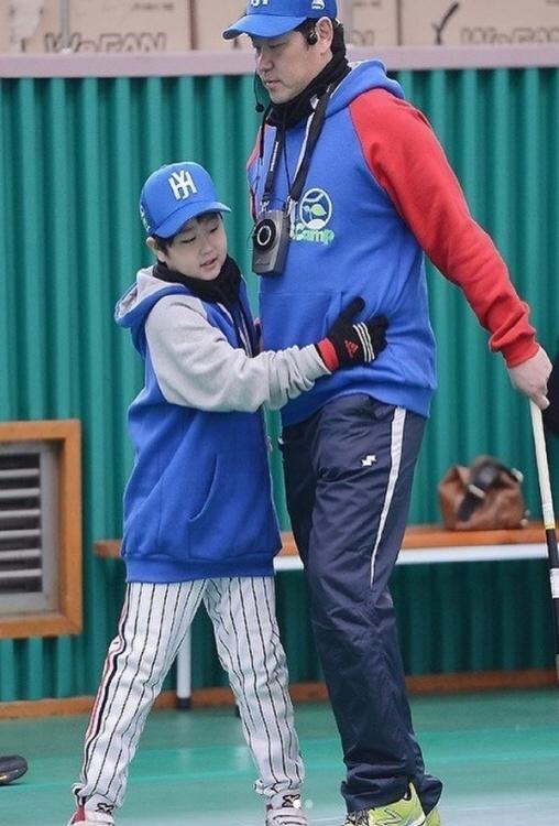 진승현(왼쪽) 진갑용 코치 ⓒ진승현 SNS 캡처