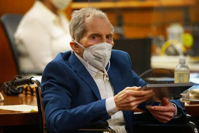 지난 5월 18일(현지 시각) 법정에 출석한 로버트 더스트(78)./AFP 연합뉴스