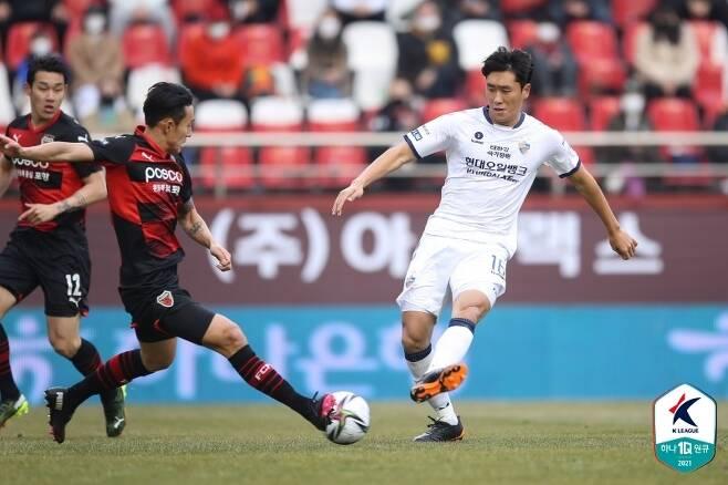 포항 스틸러스와 울산 현대의 경기(한국프로축구연맹 제공)© 뉴스1