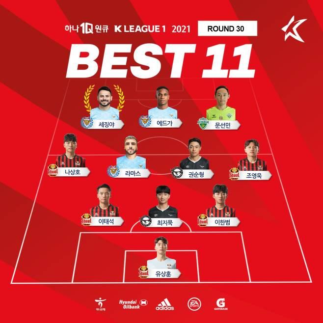K리그1 30라운드 베스트11과 MVP(한국프로축구연맹 제공)© 뉴스1