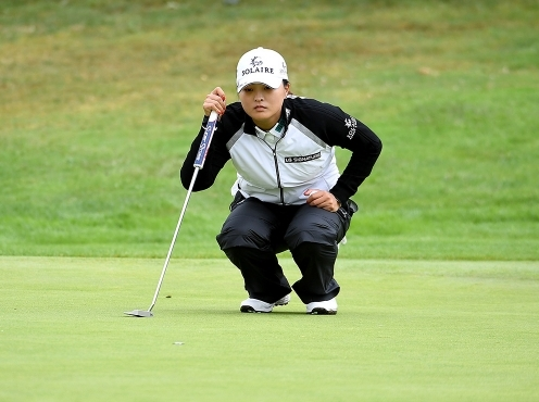 2021년 미국여자프로골프(LPGA) 투어 캄비아 포틀랜드 클래식 우승을 차지한 고진영 프로가 최종라운드에서 경기하는 모습이다. 사진제공=Getty Image_LPGA