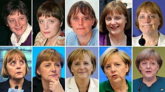 36세에 정치에 입문한 메르켈 총리의 변천사. [AP통신]