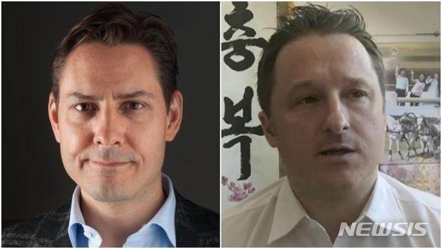 【서울=뉴시스】캐나다 전직 외교관 마이클 코브릭(왼쪽)과 대북 사업가 마이클 스페이버. (사진=뉴시스DB) 2021.09.26