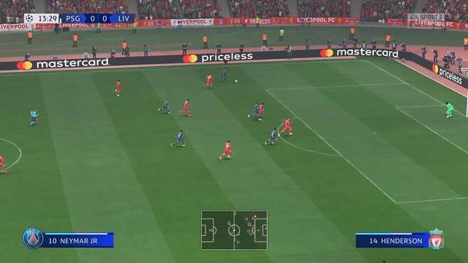 피파22 경기 화면