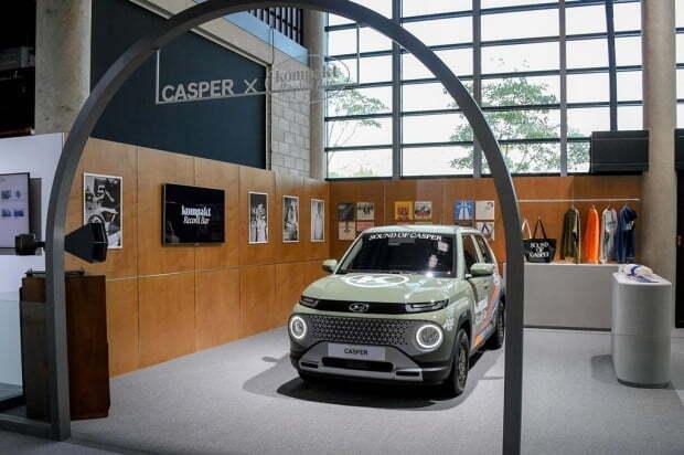 용인에 위치한 브랜드 쇼룸 '캐스퍼 스튜디오'에 전시된 캐스퍼. 사진=현대차