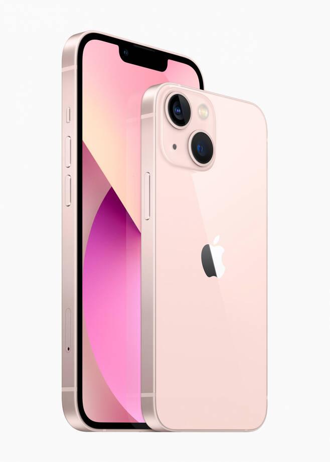 아이폰13(왼쪽)과 아이폰13미니(오른쪽) [애플 제공]