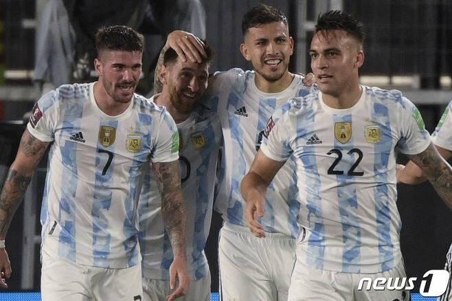남미 예선서 2위를 달리고 있는 아르헨티나 © AFP=뉴스1