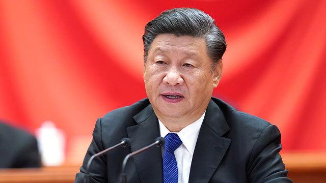 시진핑 중국 국가주석이 지난 9일 베이징 인민대회당에서 열린 신해혁명 110주년 기념식에서 연설하고 있다