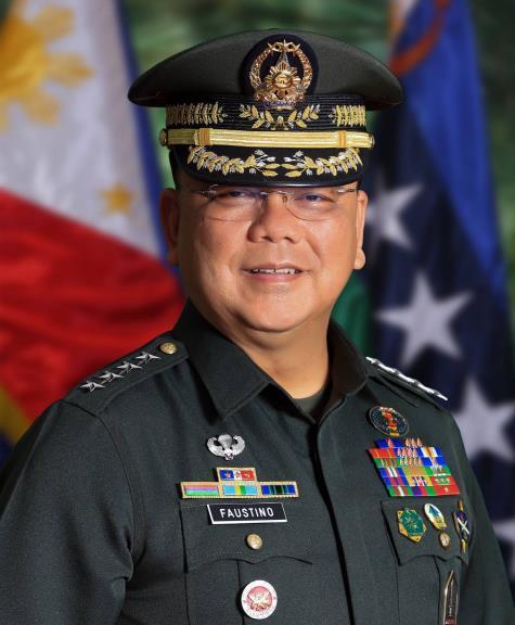 지난 7일 대장으로 진급한 호세 파우스티노(Jose C Faustino) 필리핀군 합참의장 [주필리핀한국대사관 제공. 재판매 및 DB 금지]